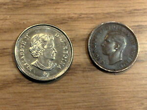 SET OF TWO CANADIAN COINS.