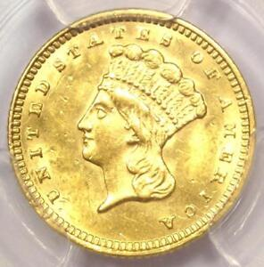 1873 INDIAN GOLD DOLLAR  G$1 COIN    PCGS UNCIRCULATED DETAILS  UNC MS
