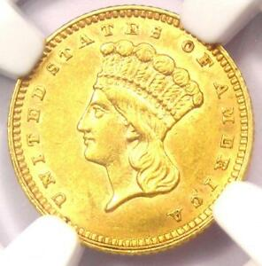 1862 INDIAN GOLD DOLLAR  G$1 COIN    NGC UNCIRCULATED DETAILS  UNC MS