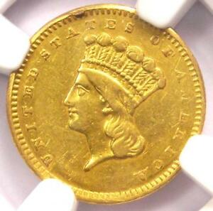 1857 S INDIAN GOLD DOLLAR COIN G$1   CERTIFIED NGC XF DETAILS