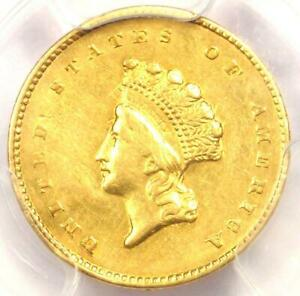 1855 TYPE 2 INDIAN GOLD DOLLAR  G$1 COIN    CERTIFIED PCGS AU DETAIL    TYPE