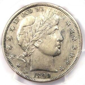 1899 S BARBER HALF DOLLAR 50C   PCGS AU DETAILS    DATE   CERTIFIED COIN