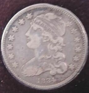 1834 CAPPED BUST SILVER QUARTER 25C