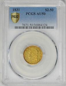 Click now to see the BUY IT NOW Price! 1831 CAPPED BUST $2.5 PCGS AU 50