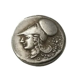ANCIENT GREEK COLLECTIBLE COIN  415 TETRADRACHM ANTIQUE METAL PLATED COLLET