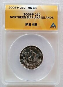 Click now to see the BUY IT NOW Price! 2009 P WASHINGTON QUARTER NORTHERN MARIANA ISLANDS ANACS MS68 TOP POP 4657316