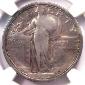 1916 STANDING LIBERTY QUARTER 25C COIN   CERTIFIED NGC VF DETAIL    KEY DATE