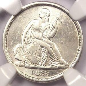 1838 O SEATED LIBERTY DIME 10C   NGC XF DETAILS  EF     CERTIFIED COIN