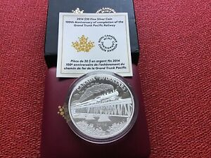 Click now to see the BUY IT NOW Price! 2014 $30 100ANV OF THE GRAND TRUNK PACIFIC RAILWAY 2OZ. SILVER COIN