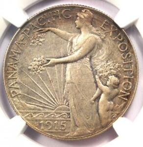 1915 S PANAMA PACIFIC HALF DOLLAR 50C COIN   CERTIFIED NGC AU DETAILS