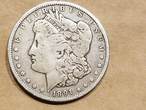 Click now to see the BUY IT NOW Price! 1891 MORGAN SILVER DOLLAR LIBERTY HEAD $1 COIN AMERICAN EAGLE NICE