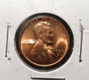 UNCIRCULATED 1956D LINCOLN WHEAT PENNY  93016 3