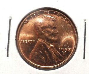 UNCIRCULATED 1958D LINCOLN WHEAT PENNY 10