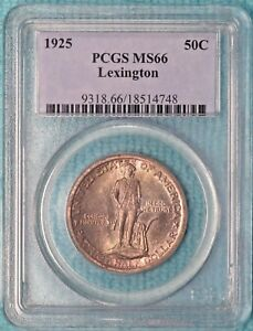 Click now to see the BUY IT NOW Price! 1925 MS 66 LEXINGTON CONCORD SESQUICENTENNIAL COMMEMORATIVE UNCIRCULATED 2