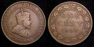 CANADA 1906 LARGE CENT VG