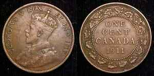 CANADA 1911 LARGE CENT VF