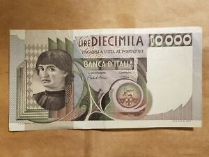 Click now to see the BUY IT NOW Price! 1982 ITALY 10 000 LIRE TEN THOUSAND LIRA ITALIAN BANKNOTE NOTE BILL FINE VF