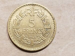 Click now to see the BUY IT NOW Price! 1946 FRANCE 5 FRANCS FRENCH ALUMINUM BRONZE COIN COLONIAL HIGH GRADE