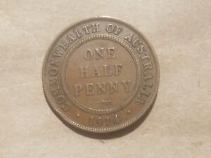 Click now to see the BUY IT NOW Price! 1914 AUSTRALIA 1/2 PENNY AUSTRALIAN COIN GEORGE V HALF PENCE WORLD WAR ONE RELIC