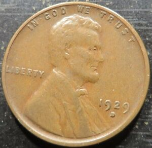 1929 D LINCOLN WHEAT CENT 1   SOLID ALBUM COIN