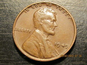 1949 P LINCOLN WHEAT CENT    SOLID ALBUM FILLER COIN