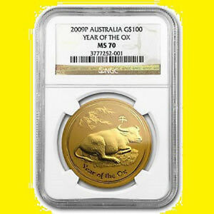 Click now to see the BUY IT NOW Price! 2009 NGC MS 70 CHINESE LUNAR YEAR OF THE OX AUSTRALIA 1 OZ 9999 GOLD LOW POP 16