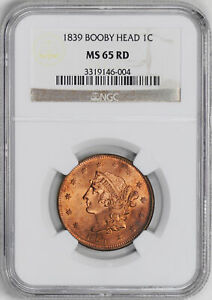 Click now to see the BUY IT NOW Price! 1839 CORONET HEAD 1C NGC MS 65 RB