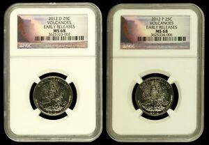 Click now to see the BUY IT NOW Price! 2012 P&D HAWAII VOLCANOES NGC MS68 EARLY RELEASES ER KILAUEA QUARTER 25C  POP 13