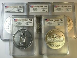 Click now to see the BUY IT NOW Price! 2010 P AMERICA T BEA ATB 5 OZ SET PCGS SP70 FIRST STRIKE MERCANTI HOT SPRINGS  4