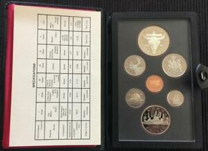 1982 CANADA DOUBLE DOLLAR PROOF SET IN W/ BISON DOLLAR IN ORIGNAL BOX