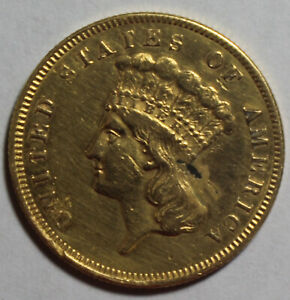 1859 $3 PRINCESS GOLD AP21