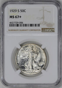 Click now to see the BUY IT NOW Price! 1929 S WALKING LIBERTY 50C PCGS MS 67