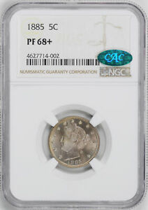 Click now to see the BUY IT NOW Price! 1885 LIBERTY 5C NGC PR 68
