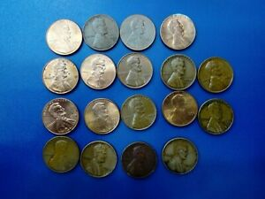 USA COIN LOT OF 1 CENT 18 PCS    T1030