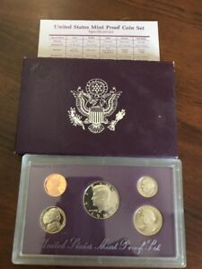 1989 S UNITED STATES MINT PROOF SET IN ORIGINAL US GOVERNMENT PACKAGING WITH COA