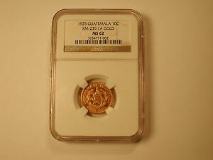 Click now to see the BUY IT NOW Price! 1925 NGC MS62 GUATEMALA GOLD 10 CENTAVOS KM 239.1A . LY  ONLY 2 KNOWN