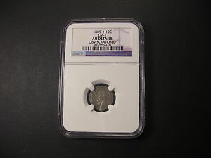 Click now to see the BUY IT NOW Price! 1805 DRAPED BUST HALF DIME NGC AU . AMONG FINEST KNOWN.