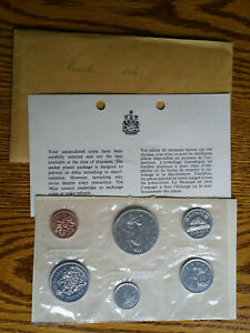 1969 CANADIAN ROYAL MINT   6 COIN PROOF SET   BCS