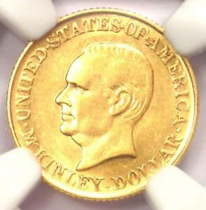1916 MCKINLEY COMMEMORATIVE GOLD DOLLAR COIN G$1   CERTIFIED NGC AU50