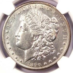 1890 CC MORGAN SILVER DOLLAR $1   CERTIFIED NGC AU DETAILS    COIN