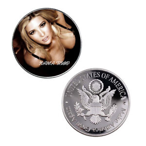 HOLIDAY GIFTS IVANKA TRUMP SOUVENIR COIN 999.9 SILVER PLATED METAL COIN
