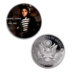 MICHAEL JACKSON FAMOUS PERSON COIN 999.9 SILVER PLATED US COIN COLLECTIONS