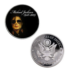 HUMAN BEING COLLECTION GIFTS MICHAEL JACKSON KING OF POP SILVER COIN