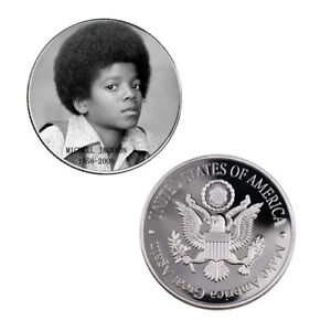 BUSINESS SOUVENIR GIFTS MICHAEL JACKSON 999.9 SILVER PLATED CHALLENGE COIN
