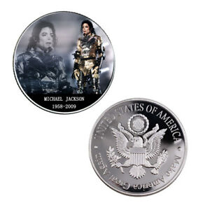 THE KING OF POP MICHAEL JACKSON 999.9 SILVER PLATED METAL COIN COLLECTIONS