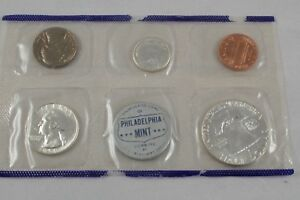 1959 SILVER UNC. SET   PACKAGING ERROR: TWO COINS REVERSE SIDE UP  VERY NEAT