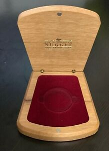 2002 THE AUSTRALIAN NUGGET 2 OZ $200 GOLD PROOF ISSUE WOOD BOX ONLY
