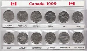 1999 CANADIAN QUARTER PROOF SET