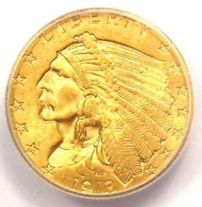 Click now to see the BUY IT NOW Price! 1913 INDIAN GOLD QUARTER EAGLE $2.50 COIN   CERTIFIED ICG MS65   $4 500 VALUE