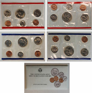 1989 US MINT SET  OGP  10 COINS